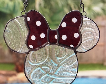 Minnie Mouse Disney inspired sun catcher