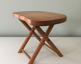 Wooden Stool Etsy