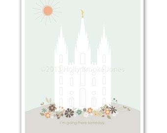 LDS Temple Printable file - 8.5 x 11 inch - Printable digital file - Instant Download - Lulu