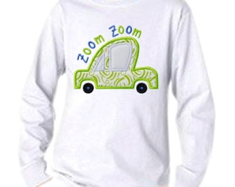 Zoom Zoom Car Applique 2