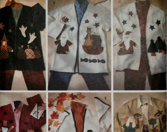 Simplicity 7032  Misses Appliqued Jacket Uncut Size 12-14-16