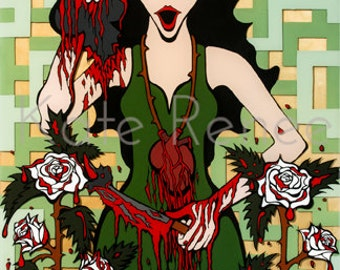 Wrath: Painting the Roses Red Original Painting