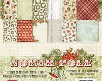 Two pockets AND YOU 30.5 CRAFT paper 12 cm NORTH POLE