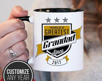 World's Greatest Grandad Since (Any Year), Grandad Gift, Grandad Birthday, Grandad Mug, Grandad Gift Idea, Baby Shower, ,, mug gift