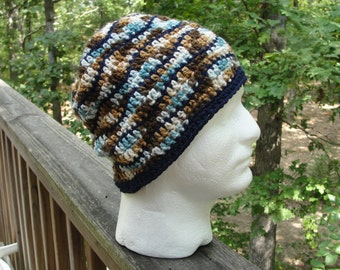 Adult crochet hat, Mens crochet hats, man crochet hats, crochet man,  adult winter hat, father birthday gift, fathers day gift, gift for him
