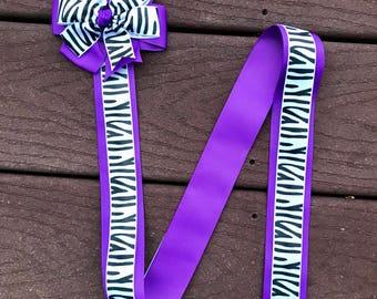zebra hair bow holder zebra print hair bow holder bow holder purple and black zebra print hair clip holder