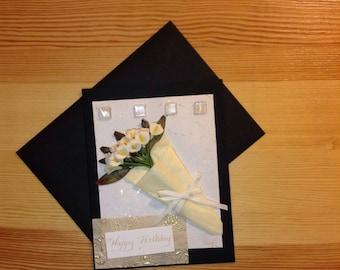 Calla Lily Bouquet Birthday Card