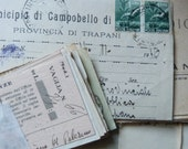 10 Italian paper ephemera pack - Antique envelopes, documents, cards, letters, receipts and more