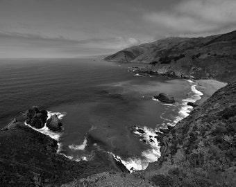 Northern California Coastline Landscape Photo Art Print