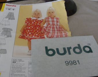 Burda 6 months to 3 years girl dress pattern