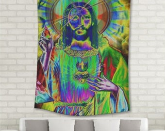 """He Has Risen, Wall Tapestry  55""""x 85""""  (not an actual photo, contrast and resolution is clear on tapestry!!!)"""