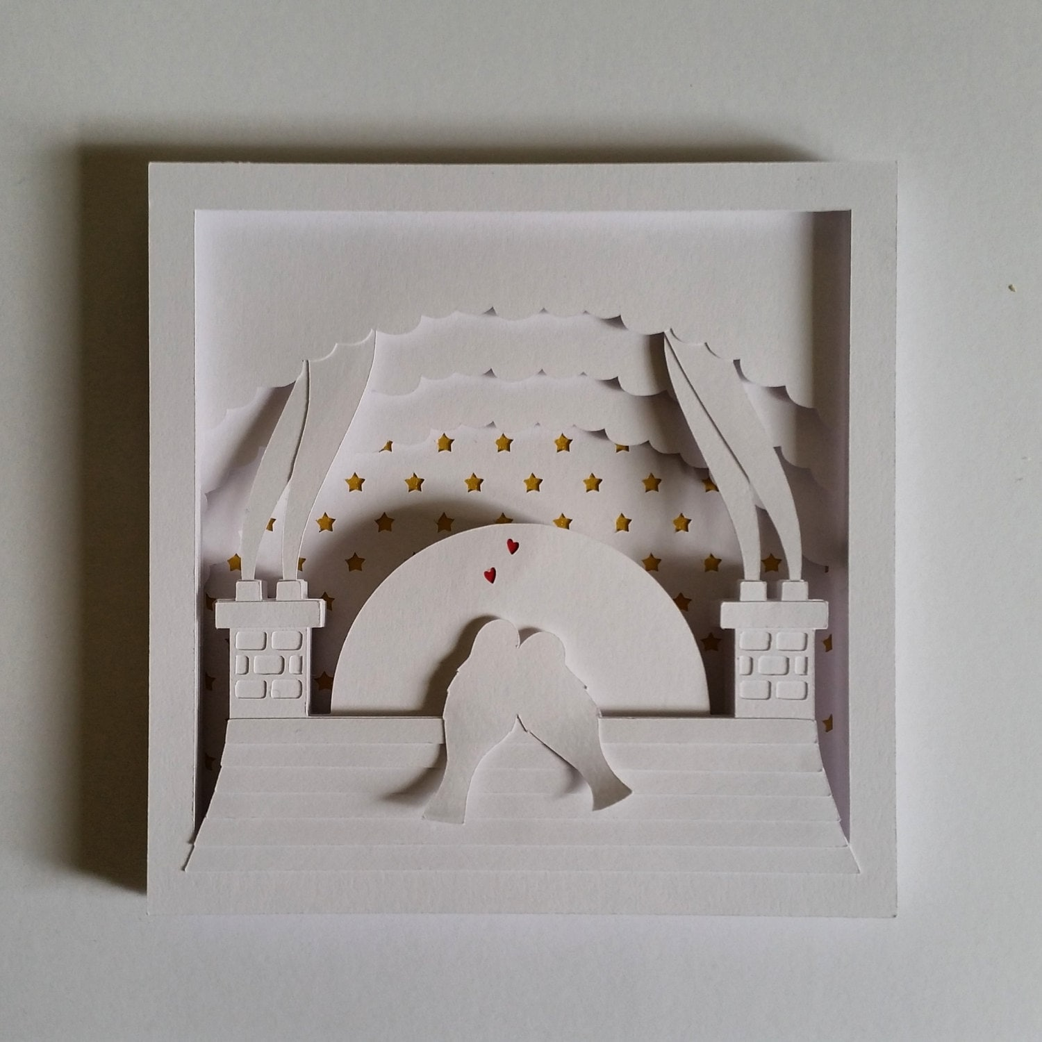 Love Birds Cut Your Own 3D Shadow Box Layered Papercutting