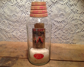 Schratz Sweet Pine Bath Salts Vintage Jar