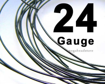 10 feet 24 Gauge Patina 925 Sterling Silver Wire Dark Oxidized