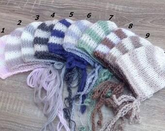 SPRING SALE! Newborn baby knit hat,knit,Striped hat,newborn,newborn hat, Bonnet,photo prop,knit baby,baby hat