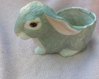 Jardinière en porcelaine lapin lapin