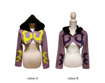 Demon Hunter wow Illidari inspired cosplay hoodie costume (shrug style) Legion, World of Warcraft, Illidan, gothic, goth, fantasy, witchy