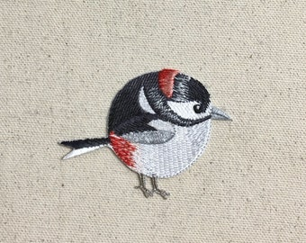 Chubby Woodpecker - Red-Headed - Bird - Spring/Nature - Iron on Applique/Embroidered Patch - 697358-A