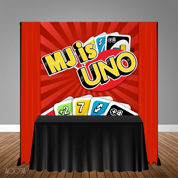 Uno Themed 6x6 Banner Backdrop Step Amp Repeat Design Print