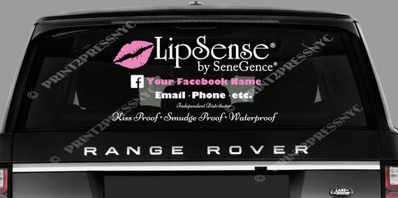 Lipsense vinyl decal car decal business logo decal lip boss car sticker sticker decal ask me about my lipstick lipsense from print2pressnyc