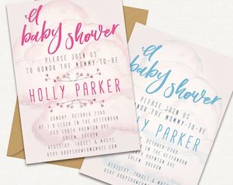 Baby Shower Invitation  // Baby Shower Invite // Printable Baby Shower Invite Template