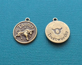 1 Taurus Zodiac Charm Bronze - CB2599
