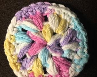 Crochet face scrubbies (set of 4)