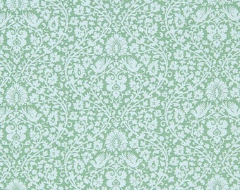 Fabric, coupon, 50 x 55 cm, addie teal TILDA (Code: 480818), patchwork, clothing