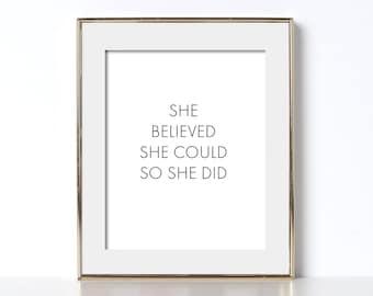 Feminism Printable Feminist Print Digital Download Print Girls Room Decor Gift for Her Inspirational Print Inspirational Printable Art