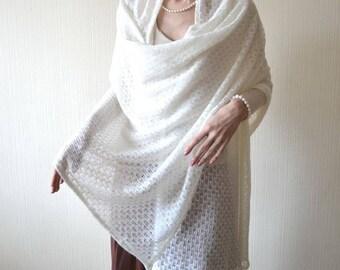 wedding shawl wrap wife gifts for her knit shawl white shawl gifts for mom knit wrap lace shawl bridal shawl womens shawl bridesmaids shawl