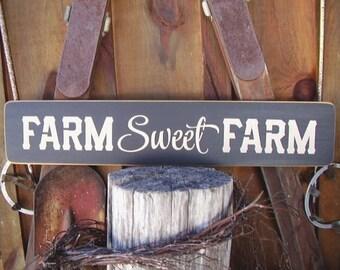 Farmhouse Decor, Farmhouse Sign, Farm Sweet Farm Sign, Farmhouse Wall Decor, Farmhouse Kitchen Decor, Rustic Farmhouse, Wood Signs