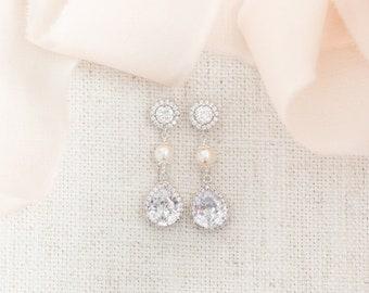 Bridal Earrings Drop, Bridal Earrings Crystal, Crystal Wedding Earrings, Teardrop Earrings