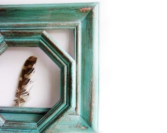 Rustic TEAL Painted Wall Frames * SouThWeSt Style FrAmes * FarMHouSe RusTic DeCor *