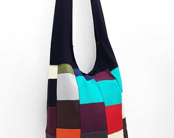 Women bag Handbags Thai Cotton Canvas bag Hippie bag Hobo bag Boho bag Patchwork bag Sling bag Shoulder bag Tote Crossbody bag Purse PWC32