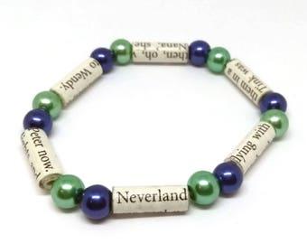 Peter Pan Paper Bead Bracelet