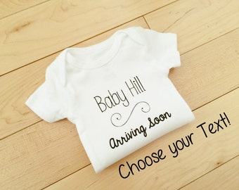 Baby Announcement / Arriving Soon / Personalized Pregnancy Announcement / We're Expecting / Maternity Photo Prop / Arriving Soon