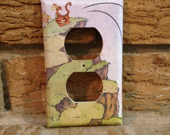 Tigger Electrical Outlet Cover Winnie the Pooh, Winnie the Pooh Decor, Winnie the Pooh Nursery, Tigger Decor, Tigger Nursery, WTP27