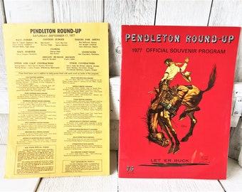 Vintage rodeo souvenir program Pendtleton Round-up Oregon souvenir 1977/ free shipping US