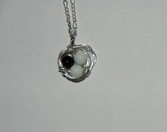 Birds Nest Beaded Necklace