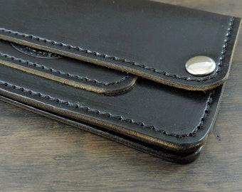 Cobblersstitch Trucker Wallet Horween Chromexcel leather.Black