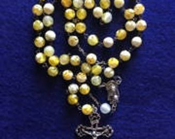 Yellow Agate Rosary