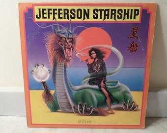 Vintage 1976 Vinyl LP Record Spitfire Jefferson Starship Excellent Condition 14890