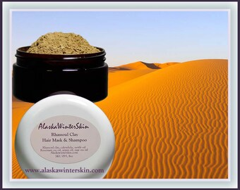 Rhassoul Clay Hair Mask and Shampoo, Scalp Hair Detox
