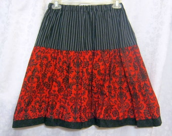 Black and Red Gothic Lolita Skirt