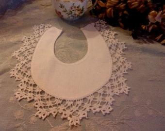 nice old bib, lace, baby, doll, collection
