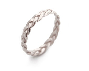 Silver Rings Braided Silver Ring Sterling Silver braid Ring Silver band Braided Ring trending popular rings
