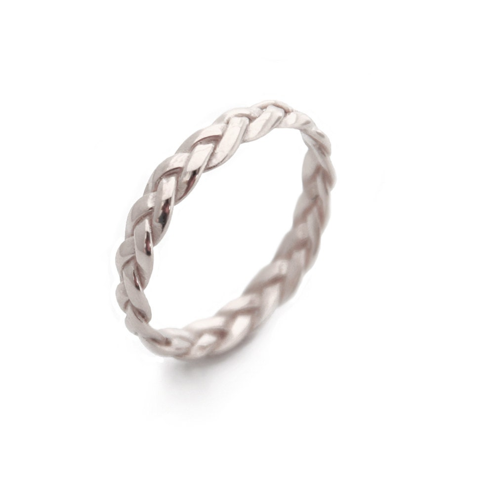 Silver Rings Braided Silver Ring Sterling Silver braid Ring