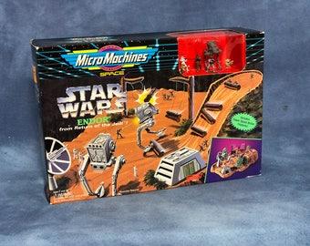 Vintage 90s Star Wars Micro Machines // Endor Return of the Jedi // New in Box // Ewok Chewbacca Yoda Boba Fett Stormtrooper AT-ST