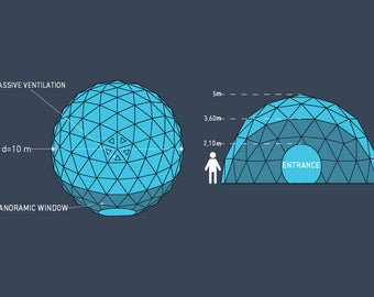 Geodome 12m, event dome