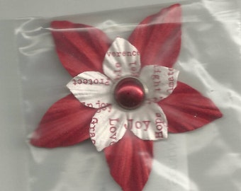 Deep Red Joy Flower